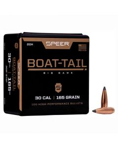 SPEER .308 CALIBER 165GR BOAT TAIL BIG GAME PROJECTILES - 100 Pack