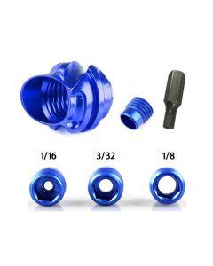 Topoint 37 Deg Hooded Alloy Peep Sight Kit Blue