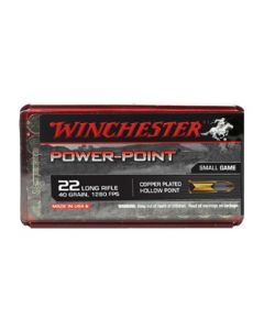 Winchester Power Point 22LR 40GR High Velocity CP Hollow Point 1280FPS - 50 Pack