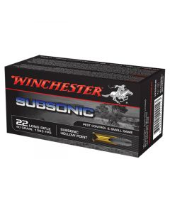 Winchester Subsonic 22LR 40GR Standard Velocity Hollow Point 1065FPS - 500 Pack