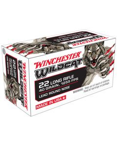 Winchester Wildcat 22LR 40GR High Velocity LRN Solid 1255FPS - 500 Pack