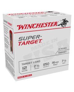Winchester 12G 28GR 7.5 Shot 1250FPS Super Target Competition Cartridges - 25 Pack