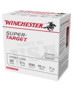 Winchester 12G 28GR 7.5 Shot 1290FPS Super Target Competition Cartridges - 25 Pack