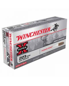 Winchester Super-X 223 REM 64GR Pointed Power Point 3020FPS - 20 Pack