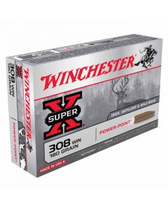 Winchester Super-X 308 WIN 180GR Pointed Soft Point 2620FPS - 20 Pack