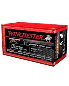 Winchester 22 WIN MAG 30GR Varmint HV V-Max Poly-Tip 2250FPS - 50 Pack
