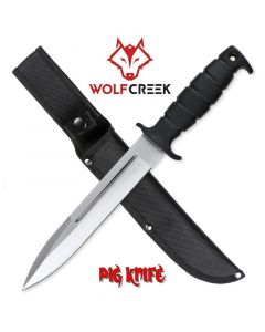 Wolf Creek Pig Hunter Fixed Blade Knife With Sheath